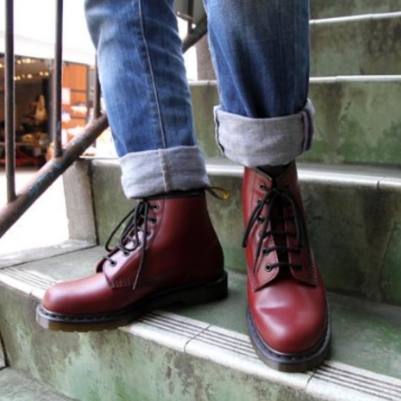 escursioni a piedi toccare dopo scuola  Dr. Martens Shoes | Dr Martens 101 6eye Boots In Cherry Red Smooth |  Poshmark